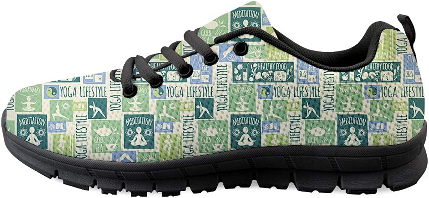 Owaheson Lace-up Sneaker Training shoes Mens Womens Yoga Life Style