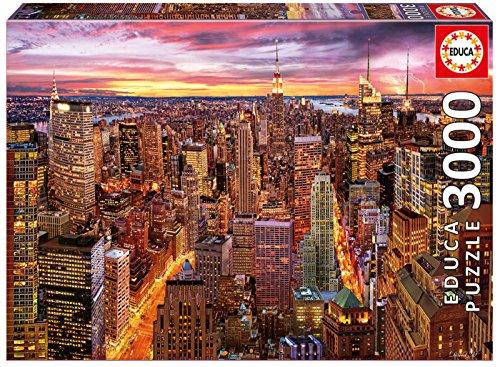 Educa Borrás - Puzzle Views of Manhattan, 3000 Pieces (17131)