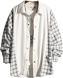 KAJIKAJI シャツ メンズ チェック柄 長袖 シャツ 2019 夏 春 おしゃれ コットン カジュアル トップス ファッション 学生