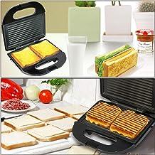 RHG Machine à pain-four à sandwich Socani Panini avec grille antiadhésive adaptée à la journée de cuisine à domiciler