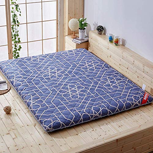 DJQ Japanese Traditional Floor Futon Mattress, Foldable Lightweight Cotton Portable Mattress Tatami Mattress Compact and Easy to Store B 180x200cm (71x79in)