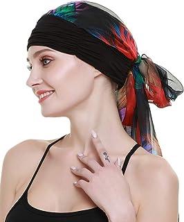 رداء رأس كيمو توربانس للنساء طويل وشاح رأس شعر طويل وشاح رأس قبعات السرطان