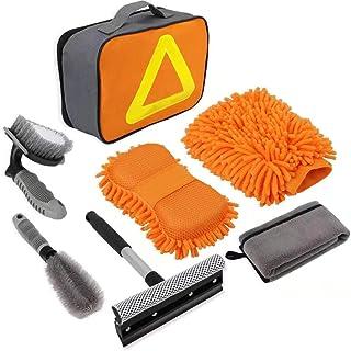 Nomiou Car Cleaning Tools Kit, Car Wash Tools Kit for Detailing Interiors Premium Microfiber Cleaning Cloth - Car Wash Spo...