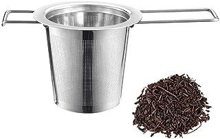 AmazingJP お茶フィルター 茶漉し 茶葉濾過 茶溜めカップ、ポット用 コーヒーフィルター ステンレス ステンレス製 耐熱性(シルバー) (茶こし)