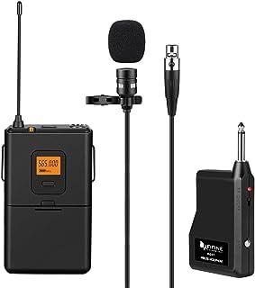 سیستم میکروفون لپ تاپ UHF Fifine 20 کاناله با فرستنده و گیرنده بدن، Mini XLR مینی لپ تاپ و قابل حمل گیرنده، 1/4 اینچ خروجی. ایده آل برای اجرای زنده. (K037)