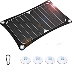 10W 5V Solar Panel USB Port Ultra-Thin Portable Power Bank Supply Outdoor Small Monocrystalline Solar Panel Charger Appliance for All USB Devices for Automobiles,DVD,Hiking,Lights,Phone