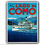 Metall Schild, See Como Italien Vintage Adver Poster