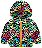 BFUSTYLE Winter Coats for Kids With Hoods Rainbow Leopard Light Puffer Jacket for Baby Boys Girls Infants Toddlers Down Alternative Clothing 12 Months