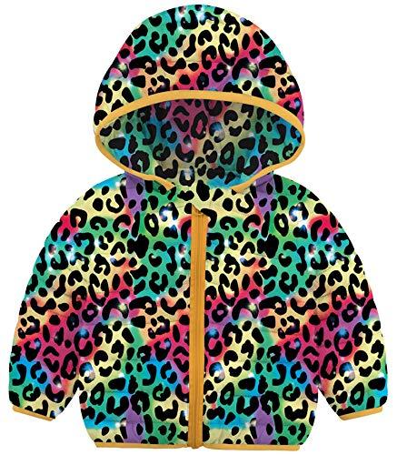 BFUSTYLE Kids Girls Down Alternative Jacket Leopard Lightweight Padded Coat Thanksgiving Fall Winter Stuff 18 Months