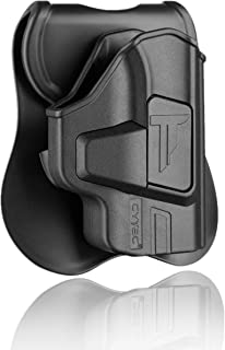 S&W M&P Bodyguard 380 Holsters OWB, Tactical Outside The Waistband Carry Holster Fit Bodyguard .380 with Integrated Crimson Trace Laser, Polymer Paddle Holster with 360° Adjustable Cant, Right Handed