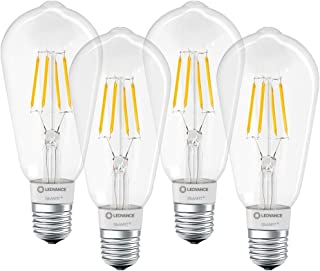 LEDVANCE Smart Led Lamp With Bluetooth Technology, E27 Socket, Dimmable, Warm White (2700 k), Controllable With Alexa, Goo...