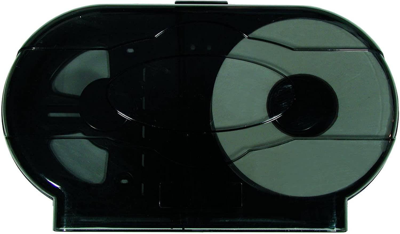 Update International  JTPD-20DR Twin Roll Jumbo TP Dispenser  Fits 9in Wide Toilet Paper Rolls,Silver