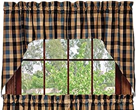 Olivia's Heartland River Shale Swag Set Window Curtains Pair - 72x36 Total - 2 inch Rod Pocket