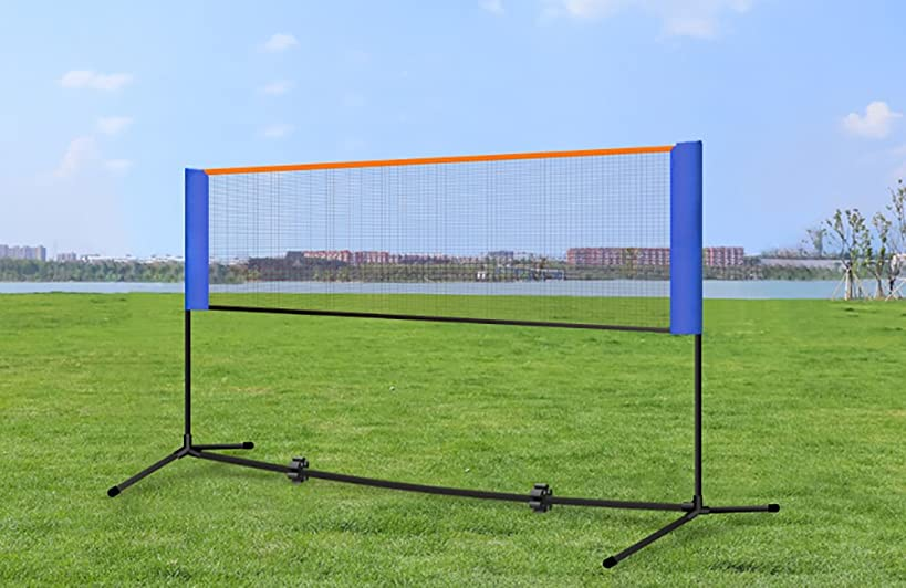 Portable Tennis Net Badminton Net Set Adjustable Height Size Sport Net Set for Outdoor/Playground Badminton, Volleyball, Tennis and Soccer Tennis WQJ001