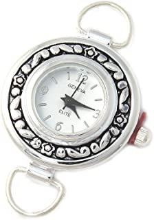 Geneva Elite Silver Tone Round Watch Face for Beading Lw008