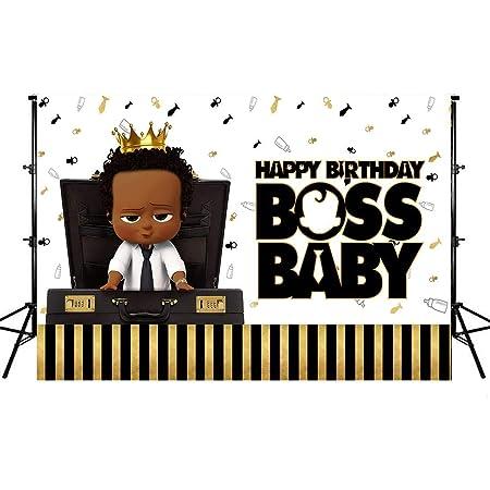 Black Skin Baby Backdrops Little African Boys Boss Portrait Background Children Birthday Party Banner Photo Studio Booth 7X5ft