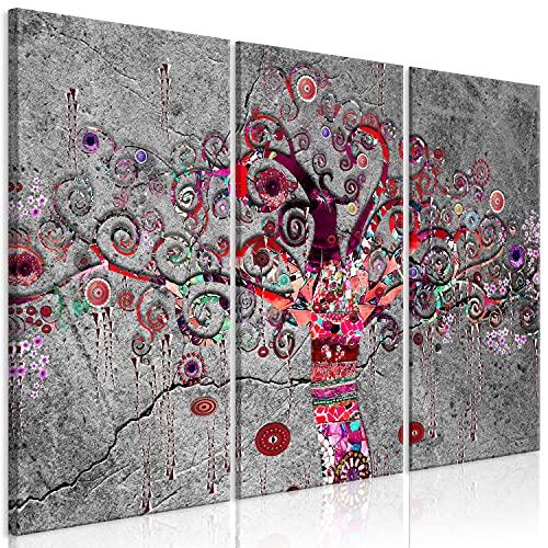 murando Cuadro en Lienzo Árbol de la Vida de Gustav Klimt 120x80 cm - Impresión de 3 Piezas Material Tejido no Tejido Impresión Artística Imagen Gráfica Decoracion de Pared Abstracto b-A-0837-b-e