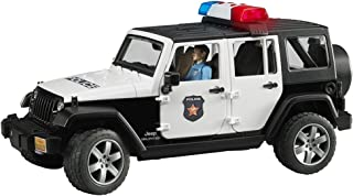 Bruder 02526 Jeep Rubicon Police car with Light skin Policeman