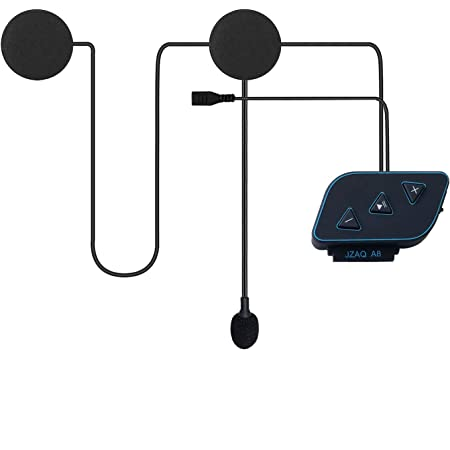 Kuuleyn Motorcycle Bluetooth Headset 800mA Bluetooth 5.0 Waterproof Helmet Headphone Stereo Music Motorcycle Riding Hands-Free Headset,7 Hours Play Time