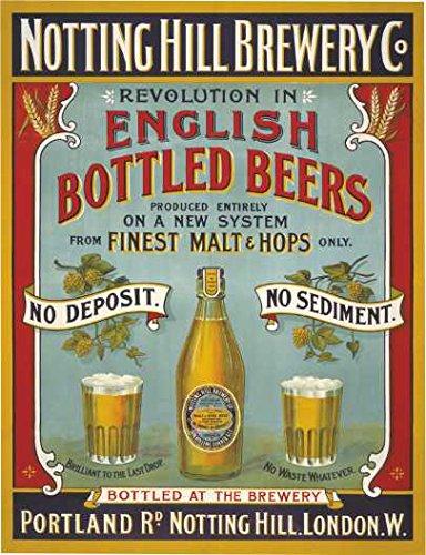 Notting heuvel brouwerij engels gebotteld bieren vintage stijl acryl sleutelhanger sleutelhanger en flesopener