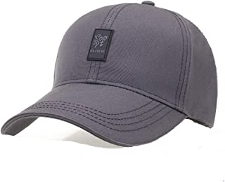 Shengshihuitong Sombrero, Gorra de verano para hombre, Sombrero para el sol, Sombrero de verano para el verano, Primavera y otoño Moda, Gorra de béisbol de mediana edad, Blanco, Negro Summer hat,
