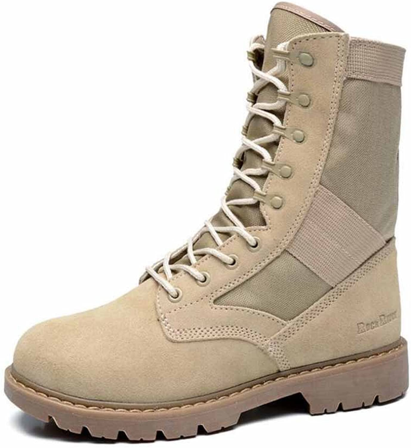 SHIXRAN Men Breathable Tactical Boots Desert Army Jungle Boots Lace Up Camouflage Boots High Rise Outdoor Boots Walking Hiking