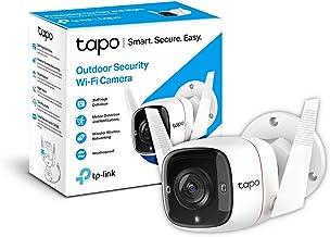 TP-Link TAPO Camara Vigilancia wifi Exterior, 3MP Alta Resolución, IP66 a Prueba de Agua y Polvo, Hasta 30m Visión Nocturn...