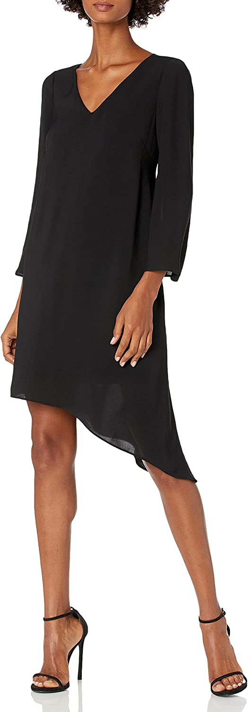 Adrianna Papell Women's Gauzy Crepe Flared Sleeve Dress