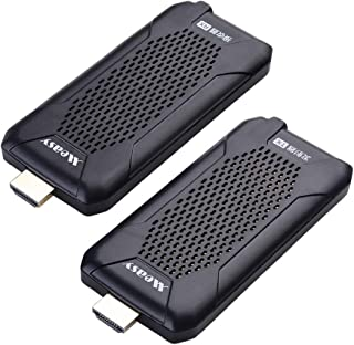 measy Wireless HDMI Extender, 5GHz HDMI Transmitter and Receiver for TV/AV, Support 1080P 60Hz Full HD with IR Remote Cont...