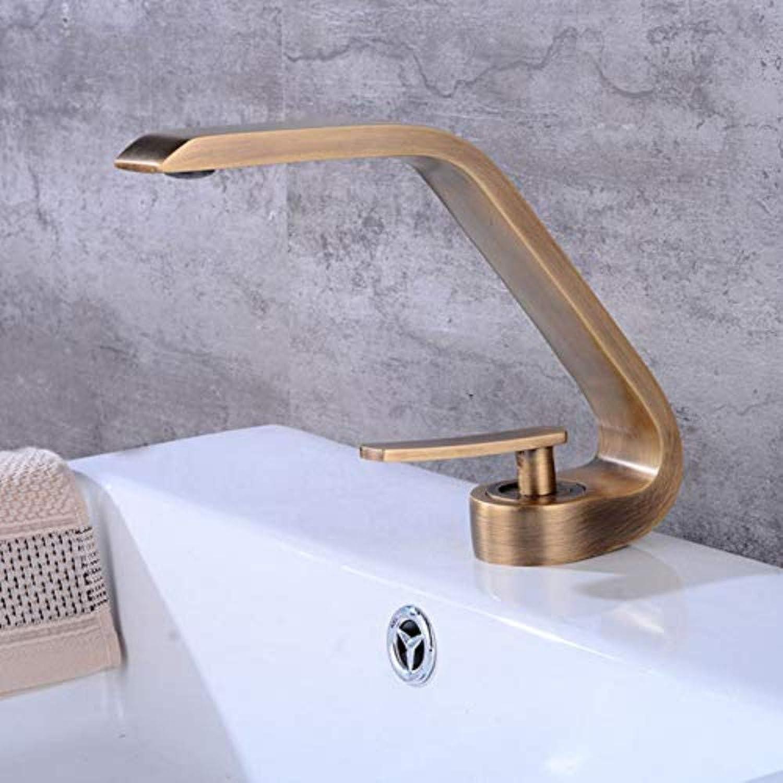 Wasserhahn Küche Waschbecken Badezimmer Kreative Antike Bronze Kupfer Bad Becken Wasserhahn Deck Montiert Einhandbedienung Drehbares Design