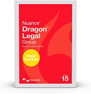 Dragon Legal Group 15.0 - Legal Enterprise Speech Recognition Software, 1-User, Dictate Documents and Control your PC – all by Voice, [PC Download]