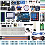 Miuzei Starter Kit for Arduino Projects with R3 Board, LCD1602 Module, Breadboard, Servo, 9V 1A Power Supply, sensors, Leds, Detailed Tutorial