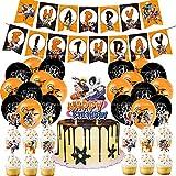 shengping Juego De Fiesta TemáTica De Naruto Anime JaponéS Feliz CumpleañOs Banner Globo Tarjeta De Pastel Fiesta Combinada