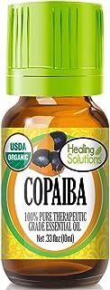 Organic Copaiba Essential Oil (100% Pure - USDA Certified Organic) Best Therapeutic Grade Essential Oil - 10ml