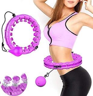 Hula Hoop justerbar bred Hula Hoop fitness med massagebarn för barn vuxna nybörjare med gymnastiska armband för bantning f...