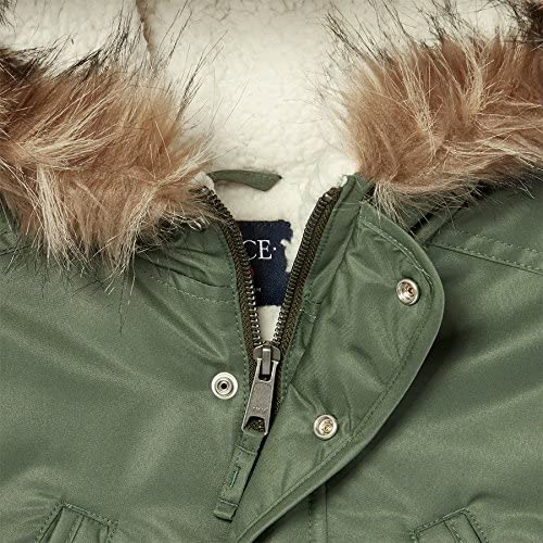 The Childrens Place Big Boys Faux Fur Lined Parka