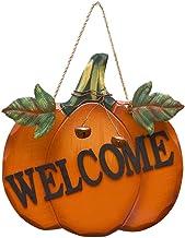 Bestonzon Seasonal Welcome Sign for Front Door Porch Pumpkin Front Door Decor,Porch Decor,Wooden Door Hanger