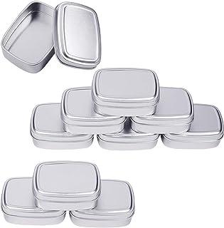 12 X latas vacías para hacer vela o almacenamiento De Estaño De Plata U Oro//Rosa Oro Reino Unido
