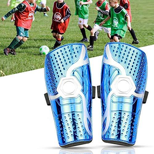 WIKEA Fußball-Schienbeinschützer Kinder Leicht Dauerhaft Wadenschutz, Fußballausrüstung für Unisex-Erwachsene, Jugendliche, 7,87 x 3,93 Zoll (NEU Blau)
