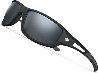TOREGE Polarized Sports Sunglasses for Men Women Cycling...