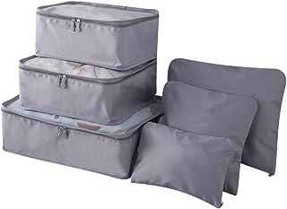 6pcs/set Lightweight Waterproof Travel Luggage Bags