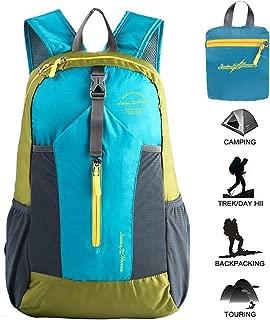 Lucien Hanna Lightweight Packable Hiking Backpack for Women Men Outdoor Travel Waterproof Small Daypack 20L
