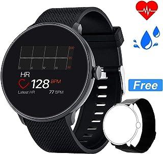 Bebinca Smartwatch Reloj Inteligente con Cronómetro, Pulsera Actividad para Deporte,Reloj de Fitness con Podómetro Hombre Mujer Niños para Samsung Huawei iPhone + 1 Correa de Metal