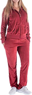 Evrimas Women's 2 Piece Outfits Velvet Zip Hoodie Sweatshirt & Sweatpants Sweatsuits and Velour Tracksuit Sets Jogging Suit