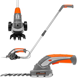 Terratek 2 IN 1 Pro 7.2V Telescopic Cordless Hedge Trimmer Built in Lithium Ion Battery, Topiary Shears, Hand Held Trimme...