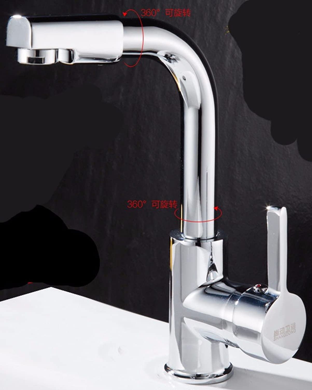 Hlluya Professional Sink Mixer Tap Kitchen Faucet A cold, redation, bath, wash basin, the outdoor balcony water taps, 1