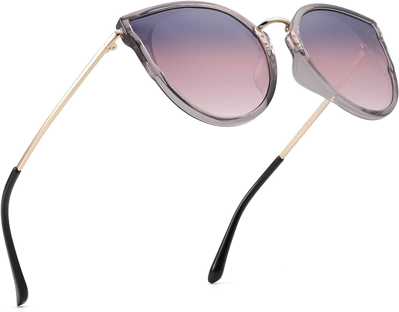 PANNER Polarized Oversized Cat Eye Fashion Sunglasses for Women 100% UV400 Predection