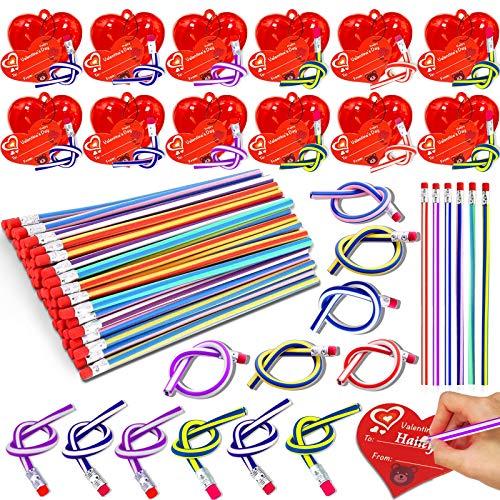 28 Pack Valentines Bendy Pencils