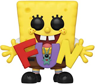 Funko Pop! Animation: Spongebob Squarepants - Spongebob & Plankton with Fun Song Letters, Amazon...