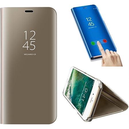 SevenPanda Coque Samsung S6 Edge Plus, Intelligente Fenêtre Effacer Galvanisierauflage PC Mirror Flip Folio Case Ultra Mince Corps Mince pour Samsung ...